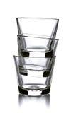 3 пустых стекла Стоковая Фотография