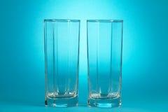 2 пустых стекла Стоковое Изображение