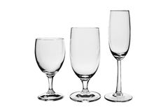 3 пустых стекла Стоковые Изображения