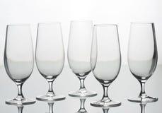 4 пустых стекла Стоковое Изображение