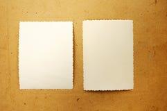 2 пустых фотоснимка Стоковые Фотографии RF