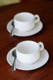 2 пустых чашки кофе или чая Стоковая Фотография
