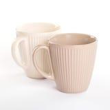 2 пустых чашки чаю Стоковое Изображение