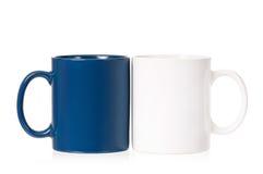 2 пустых чашки для кофе или чая Стоковые Изображения RF