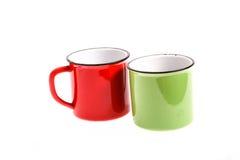 2 пустых чашки Стоковое Фото