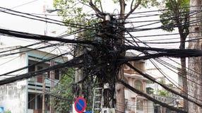 путать Вьетнам saigon линии электропередач Стоковые Фото