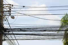Путать кабелей Стоковое Изображение RF