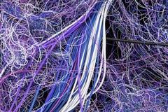 Путать электрических кабелей Стоковые Фото