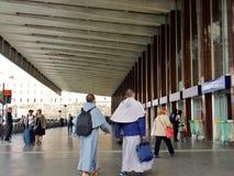 Путешественники к конечным станциям Рима Стоковые Изображения RF