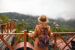 Путешественник в Грузии стоковые фотографии rf