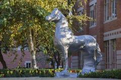 Путешественник обруч статуи лошади с клейкая лента для герметизации трубопроводов отопления и вентиляции Стоковое фото RF