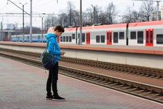 Путешественник подростка стоковая фотография rf