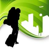 путешественник backpack Стоковые Изображения