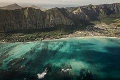 Путешествие вертолета вокруг Оаху Стоковое фото RF