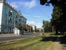 Путешествие взгляда Киева старых домов на окраинах города Стоковые Изображения