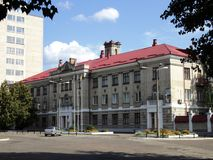 Путешествие взгляда Киева старых домов на окраинах города Стоковая Фотография RF