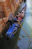 Путешествие гондолы в Венеции Италии Стоковое Изображение RF