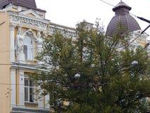 Путешествие города взгляда Киева старого здания Стоковые Изображения RF