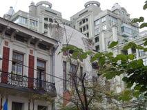 Путешествие города взгляда Киева старых зданий Стоковые Изображения