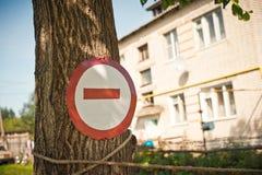 Путешествие знака запрещено Стоковые Фотографии RF