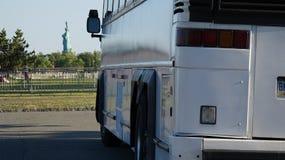 Путешествие и статуя свободы шины Стоковое Изображение RF