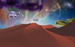 Путешествие космоса Стоковые Изображения RF