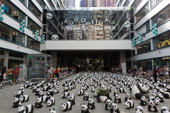 Путешествие мира 1600 панд в Гонконге Стоковое Фото
