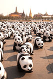Путешествие мира панд WWF на гигантском качании, Бангкоке Стоковые Фото