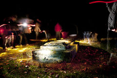 Путешествие привидения в кладбище Стоковая Фотография RF
