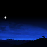 путешествие Рожденственской ночи Стоковые Фото