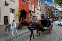 Путешествие тренера в Амстердаме Стоковое фото RF