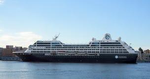 Путешествие Azamara туристического судна в Санкт-Петербурге Стоковое Фото