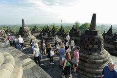 Путешествие Borobudur историческое Стоковые Фотографии RF