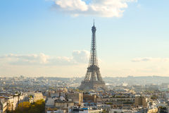 Путешествие Eiffel и городской пейзаж Парижа Стоковое Изображение RF