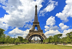 Путешествие Eiffel, назначения Парижа самые лучшие в Европе Стоковые Фотографии RF