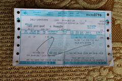 Путешествие Gatimaan срочное Cum билет ресервирования стоковое изображение