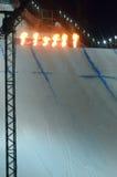 Путешествие GRAND PRIX DE RUSSIE сноуборда мира Стоковое Изображение RF