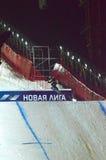 Путешествие GRAND PRIX DE RUSSIE сноуборда мира Стоковая Фотография