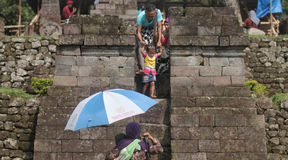 Путешествованный в виске Sukuh karanganyar Стоковые Фото