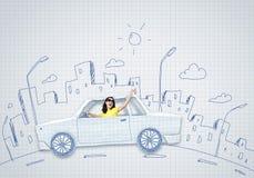 Путешествовать автомобиля Стоковая Фотография RF