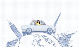 Путешествовать автомобиля Стоковые Изображения