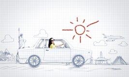 Путешествовать автомобиля Стоковое фото RF