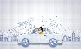 Путешествовать автомобиля Стоковые Изображения RF