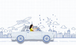 Путешествовать автомобиля Стоковое Изображение