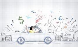 Путешествовать автомобиля Стоковое Фото