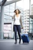 Путешествовать Афро-американская женщина Стоковые Фото