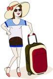 Путешествовать девушка Стоковые Изображения