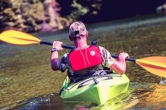 Путешествовать каяка реки Стоковая Фотография RF