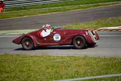 1938 путешествовать паука Romeo 6C 2300 Mille Miglia альфы Стоковое фото RF
