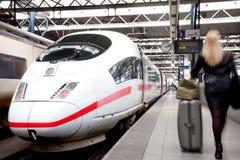 Путешествовать поездом Стоковая Фотография
